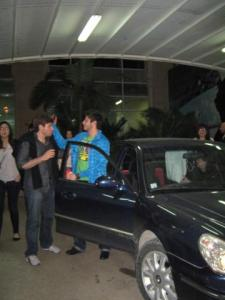 rayan Eid as he leaves the star academy building after he was voted off the competition 2