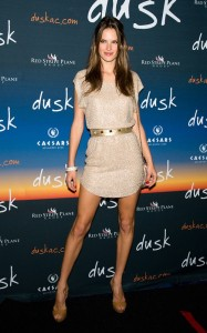 Alessandra Ambrosio arrives at  Dusks one year anniversary party in Atlantic City on June 19th 2010 in New Jersey 1