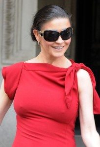 Catherine Zeta Jones seen on June 20th 2010 after her last performance in A Little Night Music at the Walter Kerr Theatre in New York City 1