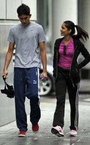 Freida Pinto and Dev Patel were spotted on June 16th 2010 walking together in downtown Montreal 1