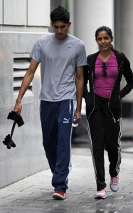 Freida Pinto and Dev Patel were spotted on June 16th 2010 walking together in downtown Montreal 2