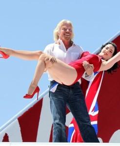 Dita Von Teese photo shoot on June 15th 2010 for Virgin Atlantic at McCarran Airport in Las Vegas 6