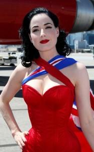 Dita Von Teese photo shoot on June 15th 2010 for Virgin Atlantic at McCarran Airport in Las Vegas 7