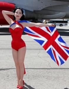 Dita Von Teese photo shoot on June 15th 2010 for Virgin Atlantic at McCarran Airport in Las Vegas 2