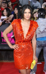 Jessica Szohr arrives on the red carpet of the MuchMusic Video Awards on June 20th 2010 in Toronto Canada 1