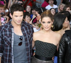Kellan Lutz arrives on the red carpet of the MuchMusic Video Awards on June 20th 2010 in Toronto Canada along with Ashley Greene