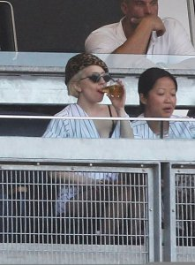 Lady Gaga seen on June 18th 2010 at the Yankees game in New York City 1