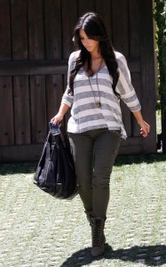 Kim Kardashian spotted on June 15th 2010 as she leaves a friends house in a swanky Beverly Hills 3