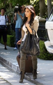 Kim Kardashian spotted on June 15th 2010 as she leaves a friends house in a swanky Beverly Hills 1