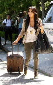 Kim Kardashian spotted on June 15th 2010 as she leaves a friends house in a swanky Beverly Hills 2