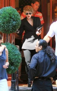 Lady GaGa was spotted on June 18th 2010 while out at Serafina restaurant in New York 1