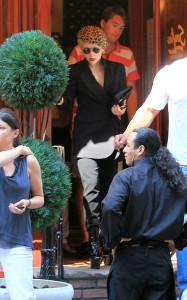 Lady GaGa was spotted on June 18th 2010 while out at Serafina restaurant in New York 2