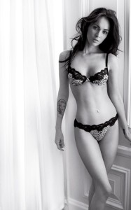 Megan Fox  lingerie photo shoot for a new June 2010 Armani ad 1