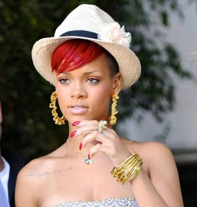 Rihanna seen arriving for the Opening Ceremony boutique on July 14th 2010 in Los Angeles 2
