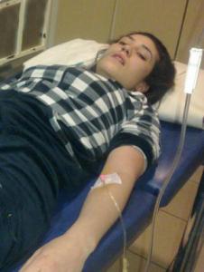 tahira hamamish picture at the hospital on January 31st 2011