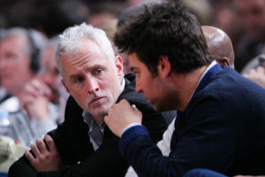 Josh Radnor attends a game between the Boston Celtics and the New York Knicks at Madison Square Garden February 6th 2009 in New York City 2