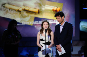 Josh Radnor picture while onstage with Anna Kendrick during the 2011 Film Independent Spirit Awards at Santa Monica Beach on February 26th 2011 in Santa Monia 1