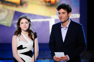 Josh Radnor picture while onstage with Anna Kendrick during the 2011 Film Independent Spirit Awards at Santa Monica Beach on February 26th 2011 in Santa Monia 2