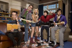 poster of Penny, Lenard, Raj, Howard Wolowitz, and Sheldon from the comdey series The Big Bang Theory