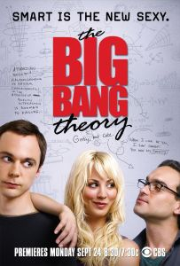 poster of Penny, Lenard, and Sheldon from the comdey series The Big Bang Theory