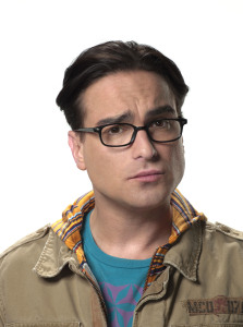 High Quality poster picture of actor Johnny Galecki who plays Leonard in The Big Bang Theory comedy series face closeup