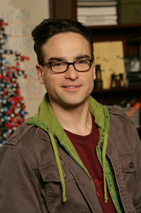 High Quality poster picture of actor Johnny Galecki who plays Leonard in The Big Bang Theory comedy series at the shooting set