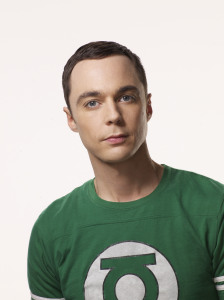 poster quality photo of actor Sheldon Cooper played by actor Jim Parsons in The Big Bang Theory comedy series 1