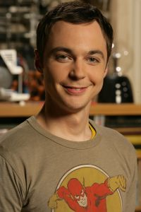 poster quality photo of actor Sheldon Cooper played by actor Jim Parsons in The Big Bang Theory comedy series 3
