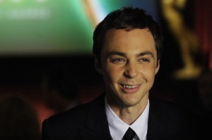 poster quality photo of actor Sheldon Cooper played by actor Jim Parsons in The Big Bang Theory comedy series while at the EMMY awards event