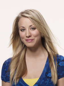 poster photo quality of acrtess Kaley Cuoco who plays Penny in The Big Bang Theory comedy series 1
