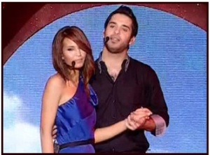 star academy 2nd prime picture of both Houssam and Lamia Jamal