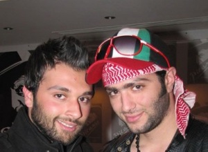 picture of Mohamad Alqaq from Jordan as he reaches the airport on April 12th 2011