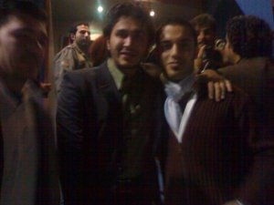 photo of Houssam Taha from Syria before star academy with singer Wael Jassar