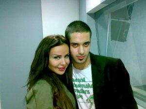 photo of Houssam Taha from Syria before star academy with Rola Saad