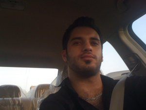 photo of Houssam Taha from Syria before star academy as he is driving his car