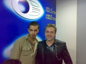 photo of Houssam Taha from Syria before star academy with singer Marwan Khoury