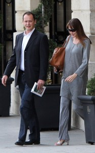 Carla Bruni Sarkozy picture as she was spotted on May 25th 2011at the Ritz hotel in Paris 2