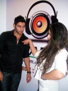 photo of Karim Kamel at the rehab fm radio station studio for a live interview 9