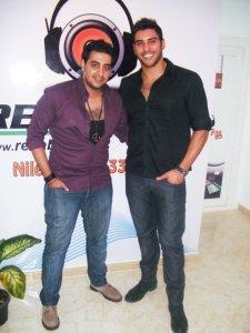 photo of Karim Kamel at the rehab fm radio station studio for a live interview 12