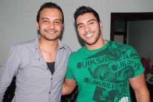 photo of Karim Kamel backstage during an interview with Alwasat Al Fanni Program 1