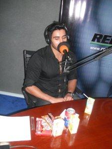 photo of Karim Kamel at the rehab fm radio station studio for a live interview 2