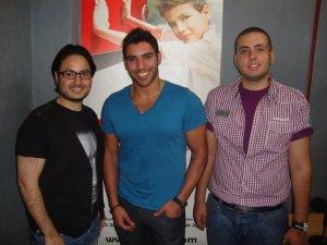 photo of Karim Kamel at Al waym Al Sabe3 wearing a blue tshirt 1