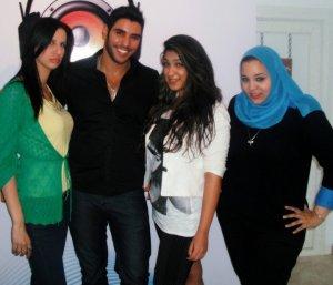photo of Karim Kamel at the rehab fm radio station studio for a live interview 15