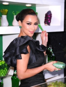 Kim Kardashian attends the Midori Melon Liqueur launch on May 10th 2011 at the Midori Trunk Show 5
