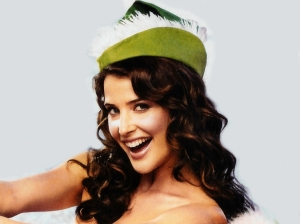 cobie smulders desktop wallpapers and HQ pictures wearing a feathery hat