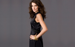 cobie smulders desktop wallpapers and HQ pictures wearing a black dress