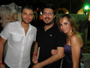 picture from I love Chocolate Children Event Cancer Benifit event of star academy student Maya Ne3meh with Michel Azzi and her husband