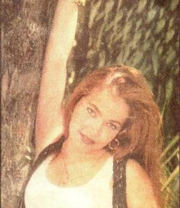 Coraima Torres magazine photo shoot with orange hair color
