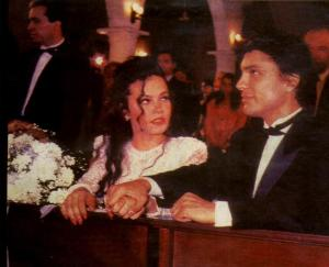 Coraima Torres photo from the drama series Kassandra at her wedding day with Osvaldo Rios
