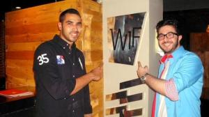 Mahmoud Shokry newest pictures at the opening of WIF retsaurant on June 26th 2011 in Zamalek Egypt 14